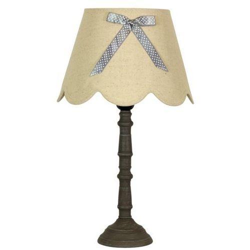 Candellux Stojąca lampa stołowa vibu 41-28365 abażurowa lampka z kokardą beżowy (5906714828365)