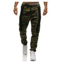 Spodnie męskie dresowe joggery multikolor Denley 3775B, kolor wielokolorowy