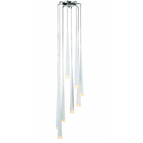 Azzardo stylo 8 az0209 md1220a-8 lampa wisząca zwis 8x40w g9 biała - negocjuj cenę