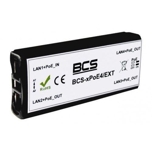 Bcs -xpoe4/ext switch 4 portowy niezarządzalny poe dedykowany do systemów cctv ip