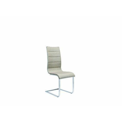 Halmar K104 krzesło beżowy/biały tkanina