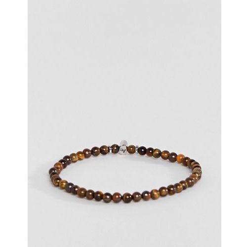 Aetherston tigers eye beaded bracelet - brown