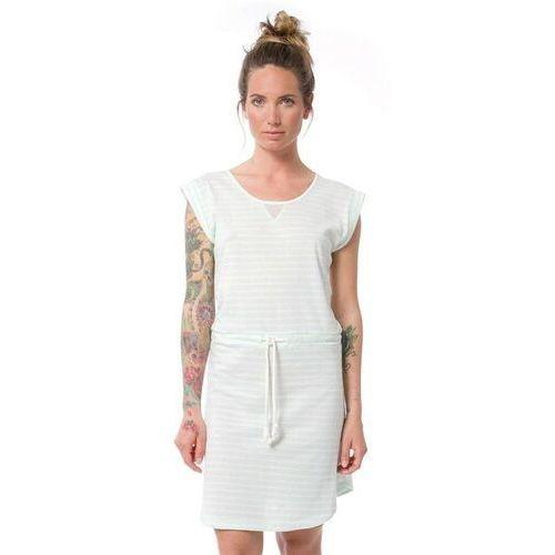 Sukienka - dalvik dusty aqua stripe (das) marki Nikita