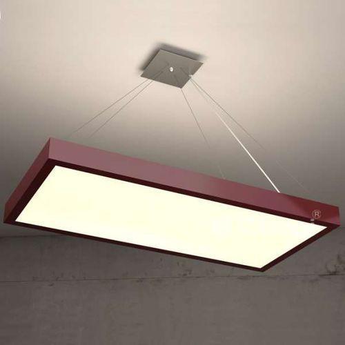 LAMPA wisząca NOBLE 1147W65D1+kolor/3000K Cleoni prostokątna OPRAWA LED 36W zwis, kolor Biały