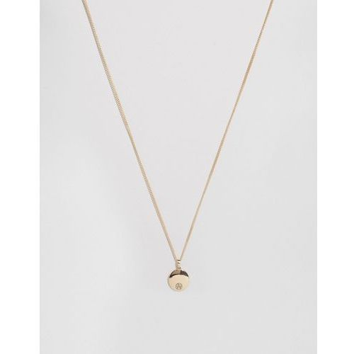 Chained & able logo medallion necklace in gold - gold