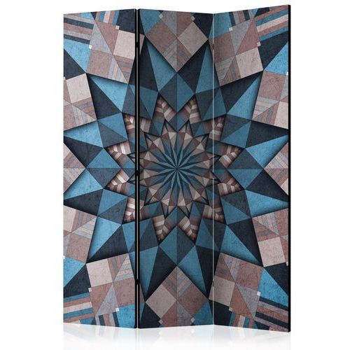 Artgeist Parawan 3-częściowy - gwiezdna mandala (brązowo-niebieski) [room dividers]