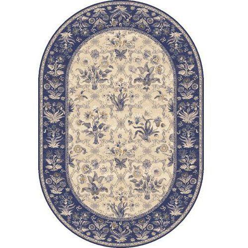 Dywan isfahan olandia ciemny niebieski (owal) 160x240 marki Agnella