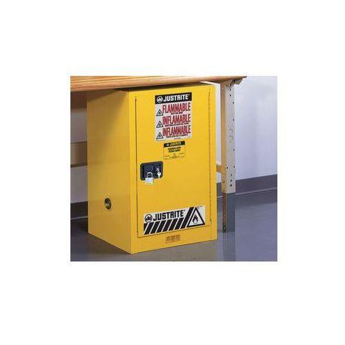 Bezpieczna szafka fm wstawiana pod stół, jednodrzwiowa,samoczynne zamykanie marki Justrite