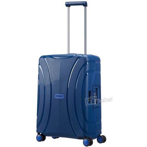 American tourister lock'n'roll mała walizka kabinowa 20/55 cm / granatowa - marine blue