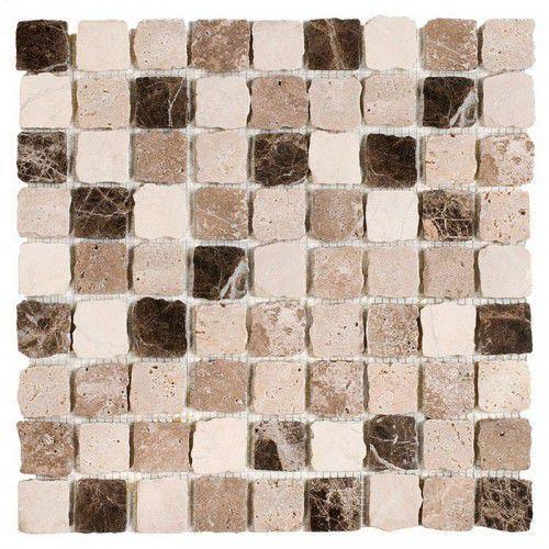 DUNIN Travertine mozaika kamienna Travertine Bend Mix 32 matt