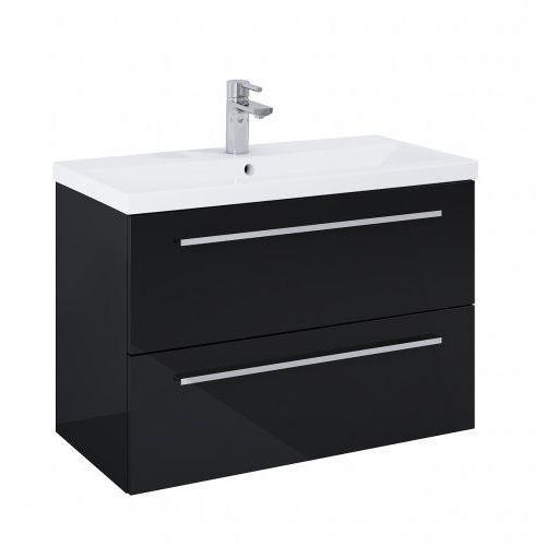 ELITA szafka podumywalkowa Kwadro Plus 80 2S black 167647, kolor czarny