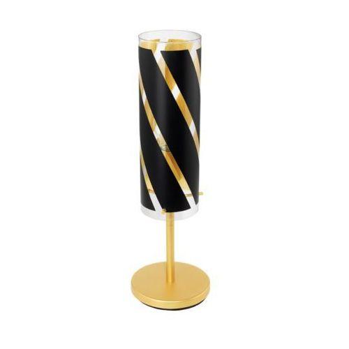 Eglo Lampka pinto nero 1 97769 stołowa nocna 1x60w e27 czarna/złota