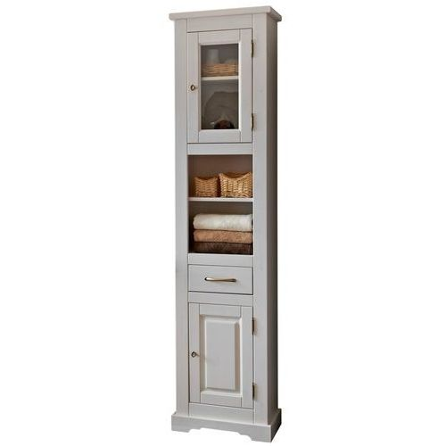 Drewniana szafka łazienkowa wysoka ROMANTIC NOWY FSC 800, CD-0206