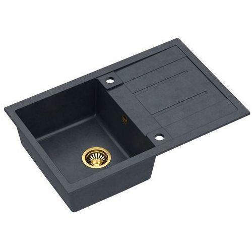 Zlewozmywak Quadron MORGAN 111 Granite HB8203U8-G1 - kto pyta płaci mniej I zadzwoń 22 266 82 20 I odbierz w Salonie!, kolor złoty