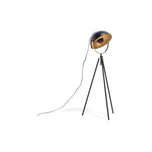 Lampa podłogowa metalowa czarno-złota THAMES, kolor Czarny,
