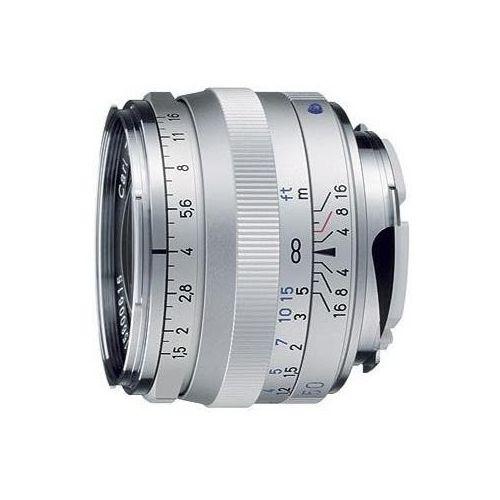 c - sonnar t* 50 mm f/1.5 zm srebrny marki Carl zeiss