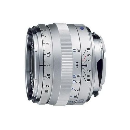 Carl zeiss  c - sonnar t* 50 mm f/1.5 zm srebrny