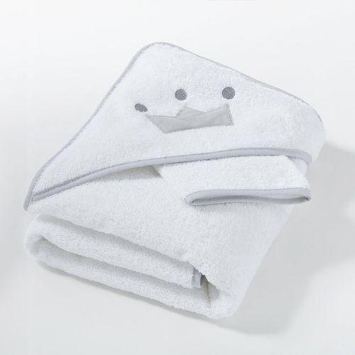 Ręcznik kąpielowy z kapturkiem i rękawica au lit mon petit doudou marki R baby