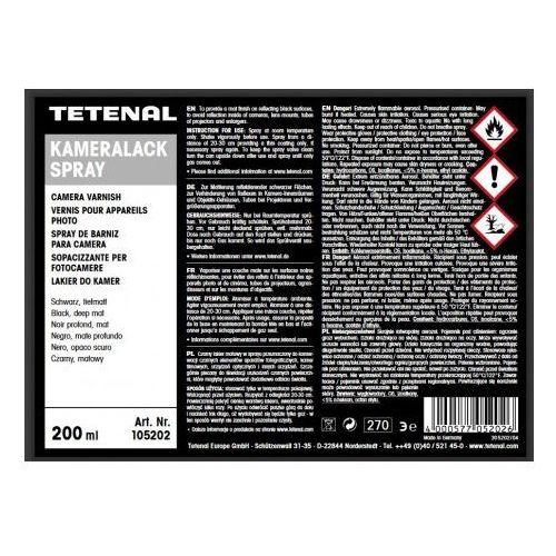 kameralack czarny lakier w sprayu marki Tetenal