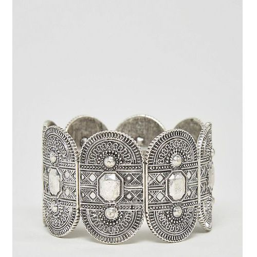 exclusive engraved stretch bracelet - silver marki Asos curve