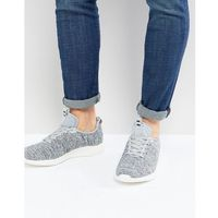 knitted trainers in grey marl - grey, River island