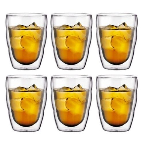 Bodum - Pilatus - Zestaw 6 szklanek, 0,25 l - 0,25 l