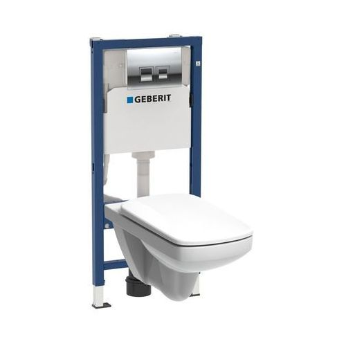 Zestaw podtynkowy WC Geberit Unifix Pro bezkołnierzowy z deską wolnoopadającą (4025416806837)