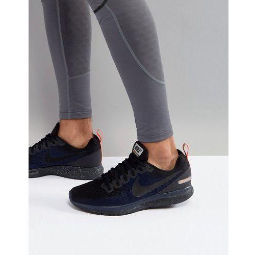 Nike running air zoom pegasus 34 shield trainers in black 907327-001 - black
