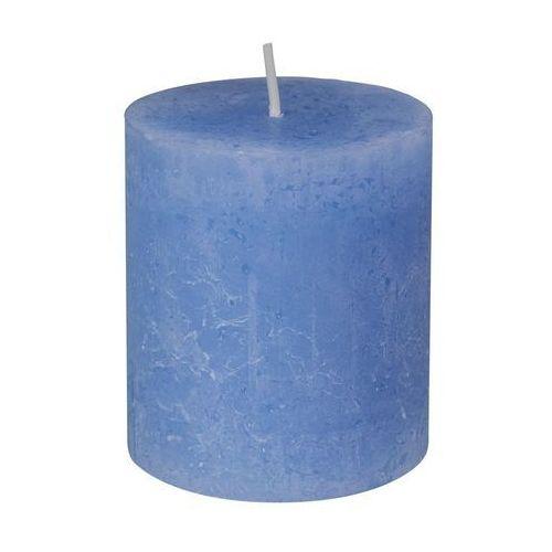 Świeca pieńkowa rustic niebieska wys. 8 cm marki Bolsius