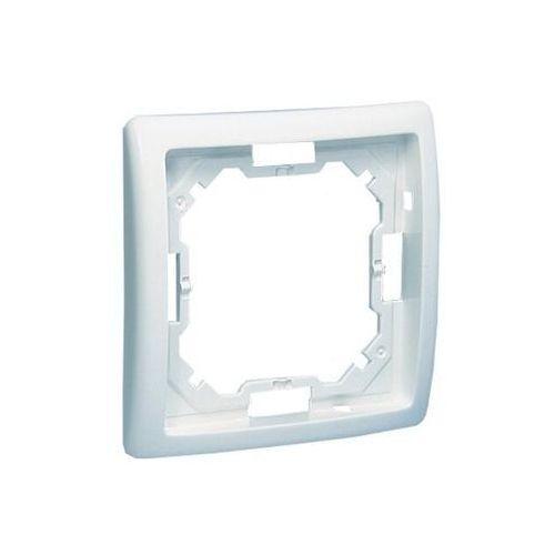 Kontakt - simon s.a. Kontakt simon basic moduł ramka 1-krotna biała bmr1/11