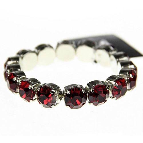 Elegancka bransoletka z bordowych kryształów