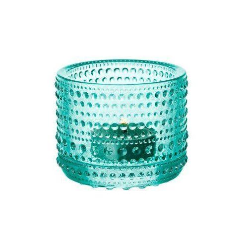 Kastehelmi świecznik na tealight, watergreen - Iittala (6411920059827)
