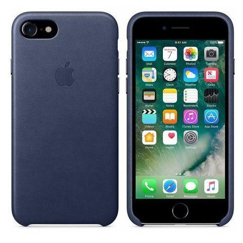 Apple  leather case - skórzane etui iphone 7 (nocny błękit)