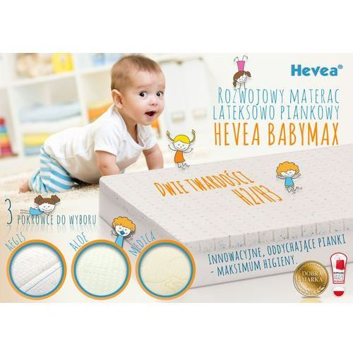 Dziecięcy materac piankowy wysokoelastyczny Hevea Baby Max 70x140, Hevea