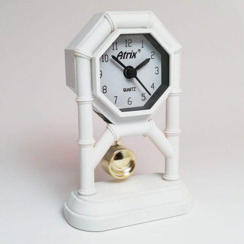 Mini zegar z wahadłem białym #AK42, AK42W
