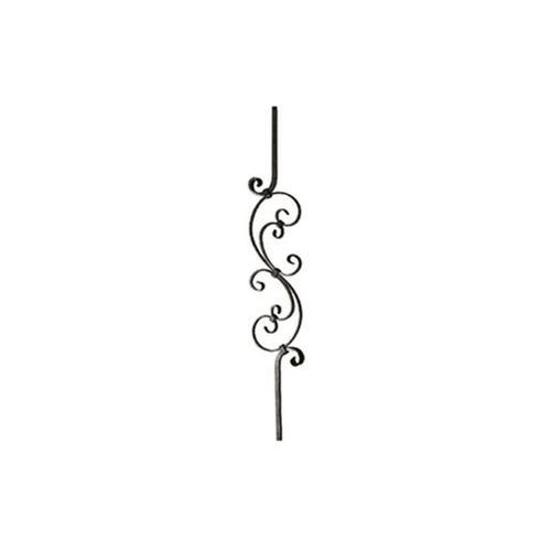 Tralka ozdobna z dużym motywem S + 2 x C 900 mm kwadrat 12 mm, EKB-0125-0