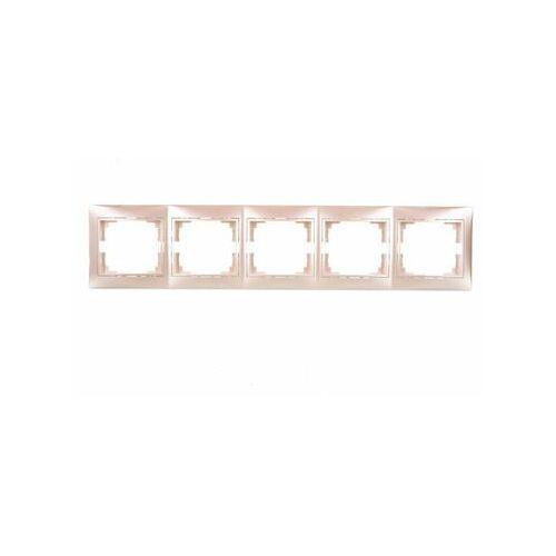 KANLUX DOMO 01-1500-030 perłowy biały Ramka pięciokrotna pozioma 25002 (5905339250025)