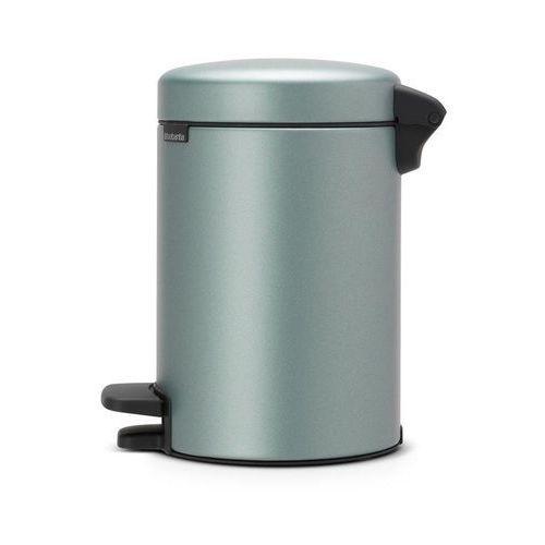 Brabantia Kosz na śmieci pedałowy newicon 3l metaliczny miętowy