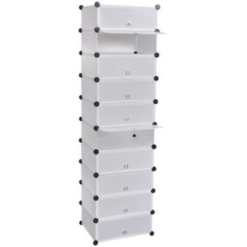 vidaXL Biały organizer na buty szafka z 10 szufladami 47 x 37 172 cm, kup u jednego z partnerów