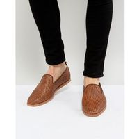 ipanema weave loafers in tan - tan marki H by hudson