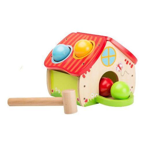 Johntoy drewniany domek z kulkami i młotkiem (8711866800230)