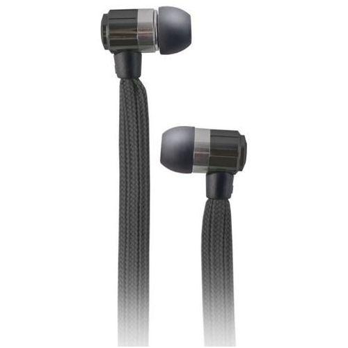 Słuchawki dokanałowe FOREVER Sznurówka z mikrofonem Czarny