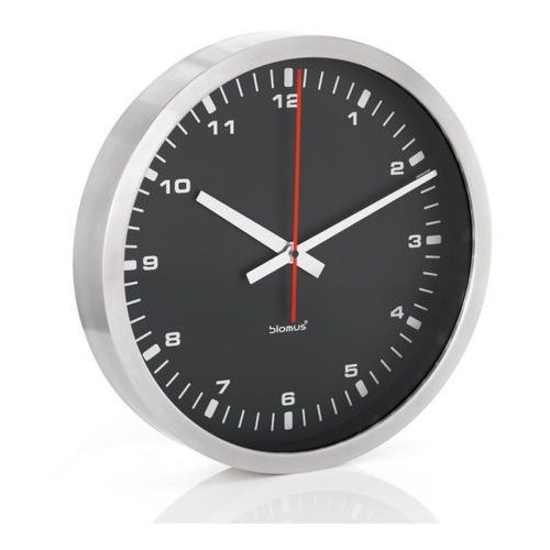 era - zegar ścienny z czarną tarczą - 40 cm - 40 cm marki Blomus