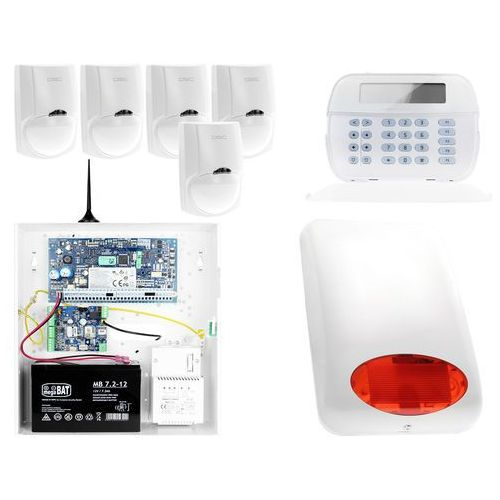 ZA12541 Zestaw alarmowy DSC 5x Czujnik ruchu Manipulator LCD Powiadomienie GSM, ZA12541