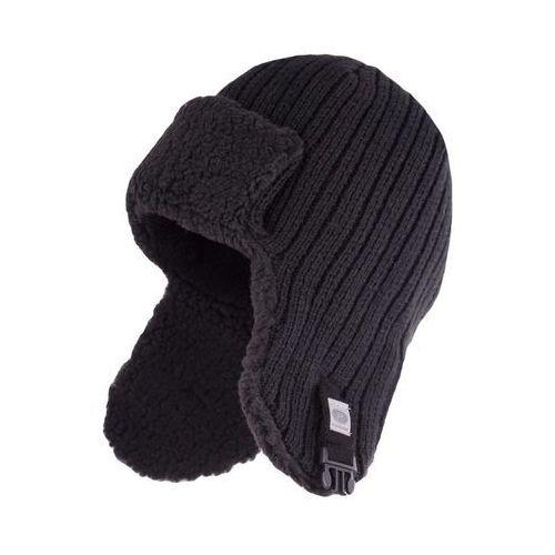 Zimowa czapka, uszatka męska - Czarny - Czarny, kolor czarny
