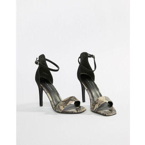 New Look Animal Print Heeled Sandals - Black, kolor czarny