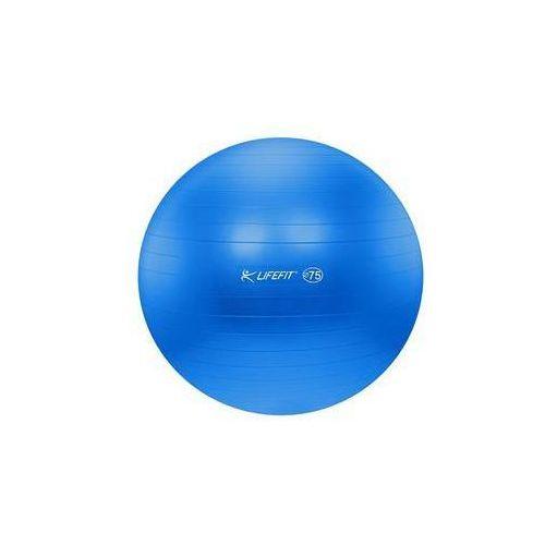 Piłka gimnastyczna LIFEFIT ANTI-BURST 75 cm Niebieski