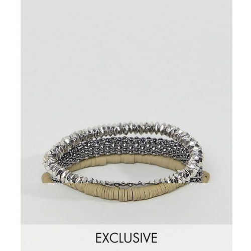 Designb green woven & beaded bracelet exclusive to asos - green marki Designb london