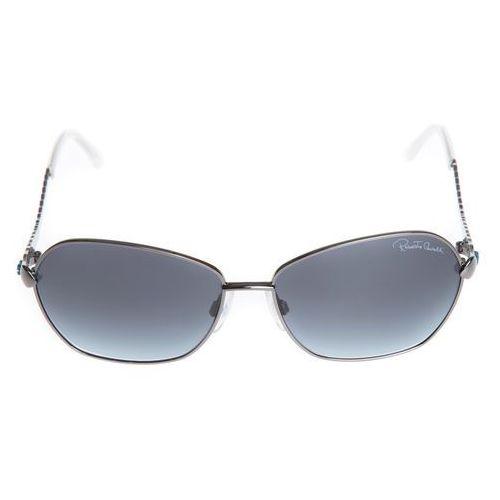 okulary przeciwsłoneczne czarny srebrny uni marki Roberto cavalli