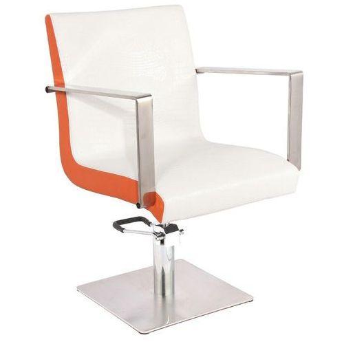 Activ Gabbiano fotel fryzjerski roma biało-pomarańczowy